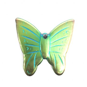 22mm*22mm Plated hematite butterfly pendant